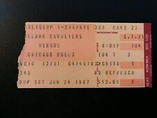 Michael Jordan January 24 1987 Chicago Bulls Ticket Stub @ Cleveland Cavaliers