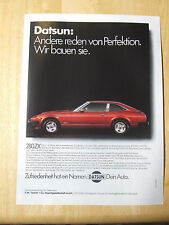 DATSUN 280 ZX GERMAN POSTER ADVERT READY TO FRAME A4 SIZE