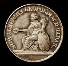 Ghzm. Baden, Schulprämie in Silber, 1847, Gravur M. von Friedeburg,W/Z 264, RR!