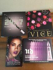 4pc Urban Decay 24/7 Glide On Eye Pencil ZERO+Primer Original+lipstick & gloss
