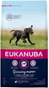 2kg Eukanuba Growing Puppy Chicken Dog Food - Prebiotic & Calcium  - Large Breed
