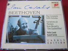 BEETHOVEN: CELLO SONATAS - CASALS / SERKIN - SONY CLASSICAL (2 CD 1993 USA)