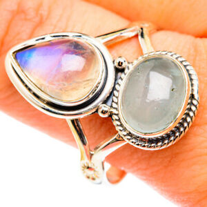 Rainbow Moonstone 925 Sterling Silver Ring Size 12.75 Ana Co Jewelry R75399