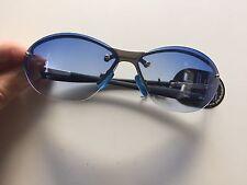 b343e7dd456 Vintage 90s 2000s Blue Tinted Gradient Sunglasses Rimless Sport Deadstock