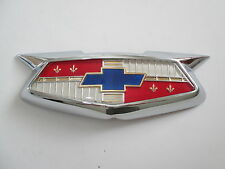 54 CHEV BONNET BADGE ASSEMBLY 1954 NEW CHEVROLET BELAIR EMBLEM HOOD 210 150