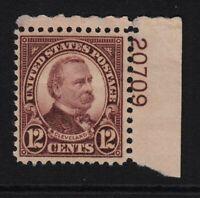 1931 Sc 693 MHR 12c Cleveland plate number single Hebert CV $8