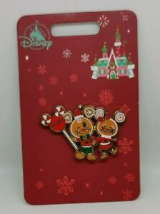 Mickey and Minnie Mouse Gingerbread Holiday Christmas Disney Stores Pin 2020