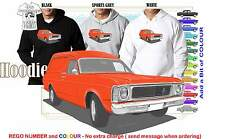 69-70 XW FALCON VAN HOODIE ILLUSTRATED CLASSIC RETRO MUSCLE SPORTS CAR