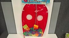 Kite Bright Red Go Fly A Kite with Colorful Tail Vintage LargeChildrens Toy