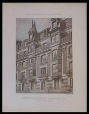 BOULOGNE BILLANCOURT - PLANCHES ARCHITECTURE 1900 - SALARD, MONTROUGE, BABOIN