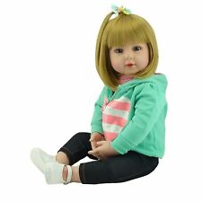 22''55cmReborn Girl Dolls Doll House Realistic Look Real Soft Silicone Xmas Gift