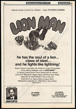 LION MAN__Original 1981 Trade Print AD movie promo / poster__Kilic Aslan_Lionman