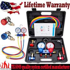 R12 R22 R134A R502 HVAC A/C Refrigeration Kit AC Manifold Gauge Set Auto Service