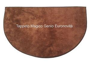 Tappeto magico Genio Marrone in microfibra mezzaluna per ingresso, antiscivolo