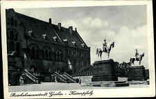 Goslar Niedersachsen Harz 1941 Kaiserpfalz Kaiserhaus Statuen Reiter Pferd Haus