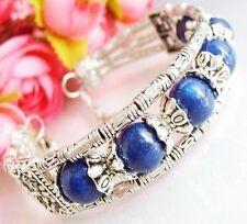 Beautiful Tibet Silver & lapis lazuli Bracelet AAA+
