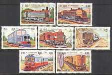 Kampuchea 1984 Steam/Diesel/Engines/Trains 7v set b8328