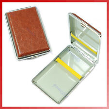 Leather Brown Pocket Cigarette (12pcs) Tobacco Case Box
