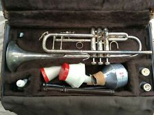 Bach Stradivarius 43 Trumpet Silver   Serial Number ML 359072