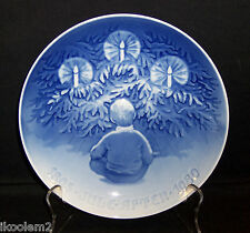 "1980 Bing Grondahl Jubilee Christmas Plate - ""Happiness Over The Yule Tree """