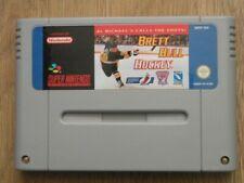 Super Nintendo Game * BRETT HULL HOCKEY * Retro SNES Game Rare