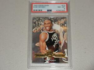 1996 Press Pass Draft Rookie #13 Kobe Bryant RC PSA 8 NM-MT