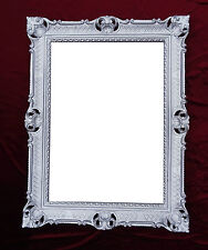 Wall Mirror Antique Baroque Rococo Rectangular 90x70 Decoration Repro Silver