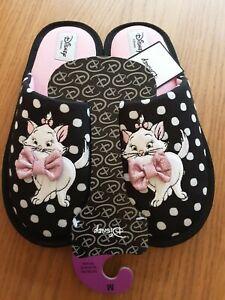 New Tags Medium 5-6 Disney AristoCats Mule Slippers Pink & Black House footwear