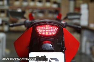 Kawasaki Ninja 250R 250 Ninja250R 2008 - 2012 Sequential LED Tail Light Smoke