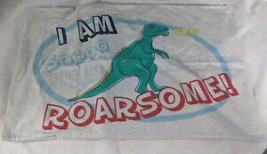 Dinosau r Themed- Single Duvet Cover & Pillowcase - Retro - 130 x 200
