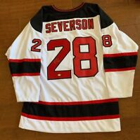 Damon Severson New Jersey Devils Signed Autographed JERSEY JAG COA