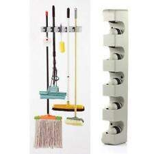 Wall Mounted Mop Brush Broom Hanger Kitchen Organiser Wall Shelf Storage Holder