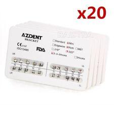 20x AZDENT Dental Orthodontic Metal Bracket Braces Mini Roth Slot.022 Hooks 345