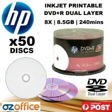 PREMIUM 50 x HP DVD+R DL 8.5GB DVD Dual Layer 8X Blank DVD DL Printable