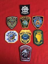 Vintage Police Shoulder Patch Lot of 8 New York Illinois Florida