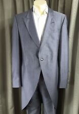 Morning Wedding Mohair Blend Grey Suit by Parsons & Parsons C46L W35 L32.5