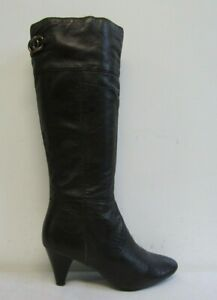 BANDOLINO WOMENS KNEE HIGH BOOTS SIZE UK 6 USA 7 BROWN SOFT LEATHER
