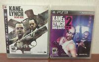 Kane & Lynch 2 Dog Days Dead Men - Game Lot PlayStation 3 PS3 Tested Complete