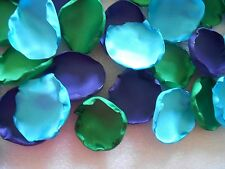 100 Peacock Wedding Flower Petals Purple Green Turquoise Blue Rose Petals