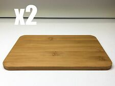 2 x BRAND NEW SUPER HIGH QUALITY 23 x 15cm WOODEN TIMBER CHOPPING BOARDS RRP$35