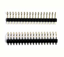 1000pc Gold plated Single Row 1x4p 1x4 4P Pitch= 2.54mm H=11.6mm Male Pin Header