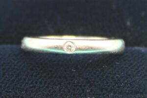 Tiffany & Co Diamond Platinum Elsa Peretti Wedding Band Size I J RRP £1200
