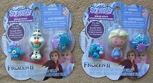 2 Disney Frozen II Squishy Necklace Activity Kits-Olaf & Elsa  NIP
