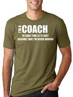 Coach T-shirt Coach Trainer Mentor T-shirt Funny Coach Tee Shirt
