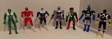 Lot Of 7 Vintage Bandai Power Rangers Flip Heads & Beetleborg Action Figures