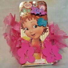 Disney Junior Fancy Nancy Fancy Pink Boa & Hair Clips Size 4-6X New 3+