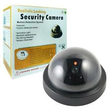 Fake Dummy Dome Surveillance Security Camera with LED Sensor Light Red LED