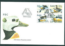 Aland 2001 WWF Steller's Eider block on unaddressed post office first day cover