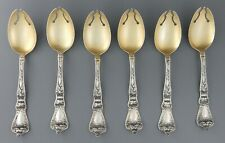 """6 Baker Manchester POPPY Ice Cream Forks With Gold Wash 5""""                #5"""