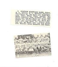Clifton Elmwood Eams New Jersey 1952 Baseball Team Picture